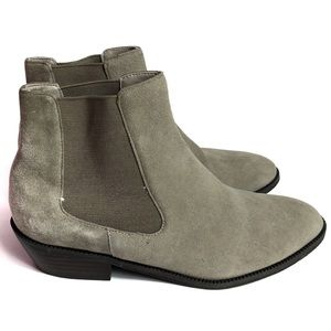 14th & Union Chelsea Gray/Taupe Ankle Bootie 6.5
